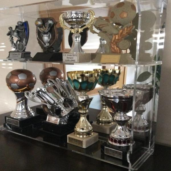 Vitrina colección trofeos